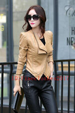 Hot Sell Spring Autumn leather jacket women leather jacket short leather coat