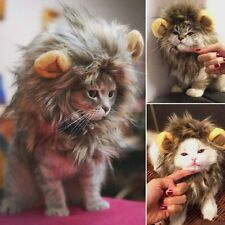 Pet Hat Costume Lion Mane Wig For Cat Pets Halloween Dress Up With Ears SG