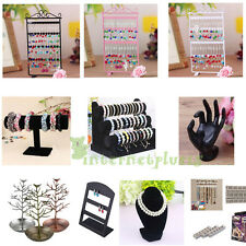 48 Hole Earrings Ear Studs Jewelry Display Rack Metal Stand Holder Showcase SG