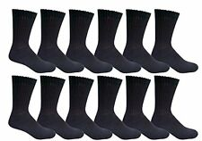 12 Pair of Excell Big And Tall Mens Large Classic Cotton Crew Socks, King Size 1
