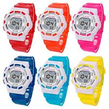 Men Women Kids Girls Boys Children Multifunction Digital Led Sports Wrist Watch