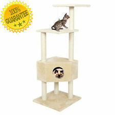 Small Cat Modern Tree House Condo Furniture Tower Scratching Post Free Shipping