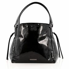 Burberry Bilmore Tote Embossed Patent Small