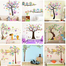 Nursery Removable Wallpaper Owls Tree Wall Stickers For Kid Room Home Decor CHUS