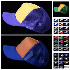 Baseball Cap Plain Hat Mesh Trucker Cap Fashion Casual Classic SnapBack Hats