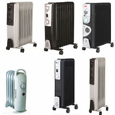 5/7/9/11 Fin Oil Filled Portable Electric Radiator Heater Adjustable Temperature