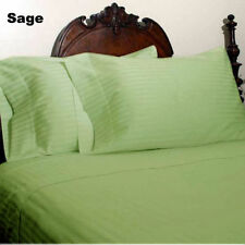 US QUEEN SIZE- SAGE STRIPE 1000TC EGYPTIAN COTTON BEDDING COLLECTION