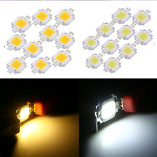 10pcs 10W Warm/Cool White High Power 500-600LM LED Light Lamp SMD Chip DC9-12V H