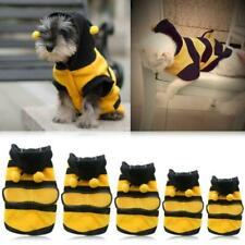 Cute Fleece Bumble Bee Lovely Wings Dog Cat Pet Apparel Costume Clothes Coat