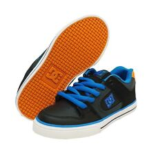 New! DC Black PURE Kids Youth Skate Sneakers Boys' Shoes US 1