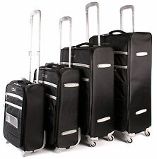 Set of 4 Lightweight Suitcases Wheeled 4 Wheel Spinner Hand Cabin Luggage