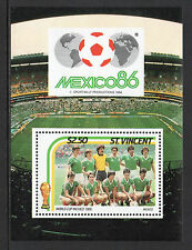 ST. VINCENT - 1986, $2.50 Mexico World Cup (Mexico) Mini-Sheet, MNH