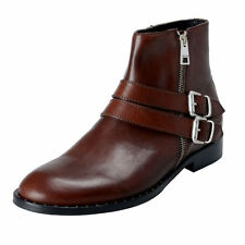 Just Cavalli Men's Brown Leather Ankle Boots Shoes Sz 8 9