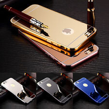 Luxury Aluminum Ultra-thin Mirror Metal Case Cover for iPhone SE 5S 5C 6S 7 plus