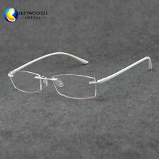 Fashion Womens Eyeglass Frame Rimless Spectacles Glasses Optical Eyewear Rx Able