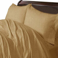 US CAL KING TAUPE STRIPE 1000TC EGYPTIAN COTTON US BEDDING COLLECTION