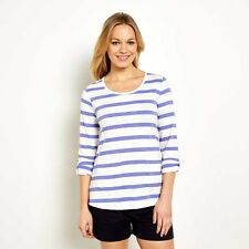 Weird Fish Bollywood Stripe Long Sleeve T-Shirt - Violet - Size 8 - BNWT