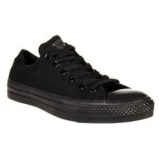 Converse Chuck Taylor Ox Low Top Black Mono Mens Womens Canvas Shoes All Sizes