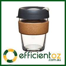 Glass Keep Cup KeepCup - Brew CORK BLACK - Reusable Barista Grade Eco Coffee Cup