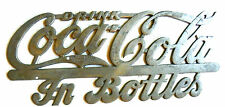 "RARE! RARE!  1920's ""DRINK COCA-COLA IN BOTTLES"" CHROME RADIATOR PLATE"