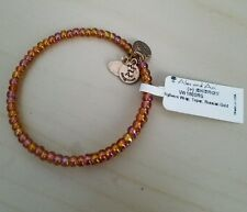 CHEAP! Alex and Ani Highwire Wrap Topaz Russian Gold Beaded Bracelet! NEW
