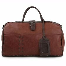 ChanChanBag Mens Duffle Bag Gym Bag for Women Faux Leather Travel Bag 313 AU