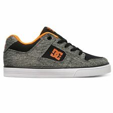 DC Shoes Pure Elastic TX SE Black Grey Youth Trainers