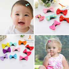 20pcs/lot Kids toddler Baby Girls Color bow hair accessories hair clips hairpins
