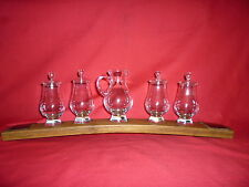 Whisky Glass Display Hand Crafted From Whisky Barrels Premium Glencairn Crystal.
