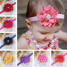 Kid Baby Girl Headband Infant Toddler Rhinestone Flower Hair Bow Band Accessorie