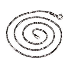 Corn Chain Fashion Necklace 100% real 925 sterling silver Women Men jewelry Gift