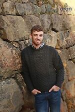 Fishermans Aran Sweater Made in Ireland by Carraig Donn 100% Wool A825 045