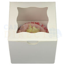 SINGLE CUBE CUPCAKE BOX + DIVIDER CHEAPEST ON EBAY CHOOSE YOUR QTY & COLOUR
