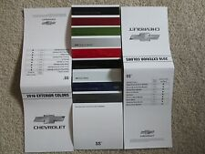 2016 CHEVROLET SS FACTORY COLOR CHIP SAMPLE CHART BROCHURE NASCAR INSPIRED NEW