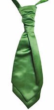 Clover Green Wedding Scrunchie Satin Cravat Mens & Boys