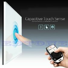 Wall Light Switch Smart Touch Crystal Glass Panel 1/2/3 Gang + Remote Control