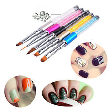 Nail Art Tips UV Gel Crystal Acrylic Painting Drawing Pen Polish Brush Pen Tool