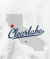 Clearlake, Lake County, California CA MAP Souvenir T Shirt All Sizes & Colors