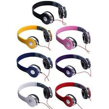 New STEREO HEADPHONES DJ STYLE FOLDABLE HEADSET EARPHONE OVER EAR MP3 Tab 3.5MM