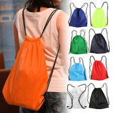 Premium School Drawstring Duffle Bag Sport Gym Swim Dance Shoe Backpack OE