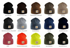 Carhartt Beannie Men's Hat Acrylic Stretchable Knitted Cap Various Colours