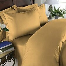 US- TWIN SIZE GOLD SOLID 1000TC EGYPTIAN COTTON US NEW  DUVET SET