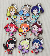 T059 Japan anime Lovelive Love Live! rubber Keychain Key Ring Rare cosplay BBB