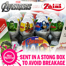 Marvel Avengers Zaini Chocolate Surprise Eggs Hulk Iron Man Thor Minifigures