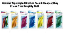 TEPE ANGLE INTERDENTAL BRUSHES ALL 0.4mm - 0.8MM PACK 6 CHEAP PRICE & FREEPOST