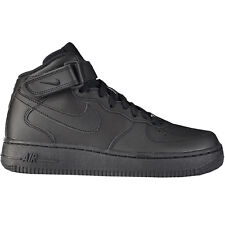 Nike Women Air Force 1 Mid Shoes Trainers Women's Trainers leather black new