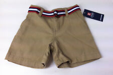 NWT Chaps Belted Chino Khaki Beige Shorts Infant Toddler Sz.12 Mon, 18Months New