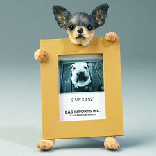 E&S Imports 2.5in x 3.5in Picture Frame - Chihuahua (black & White)