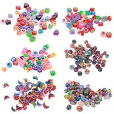 50pcs Polymer Clay Spacer Beads Charm for Jewelry Making DIY Craft Findings