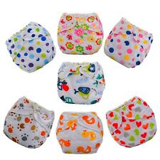 Washable Baby Kids Waterproof Cloth Diaper Cover Cartoon Diapers Reusable Nappy